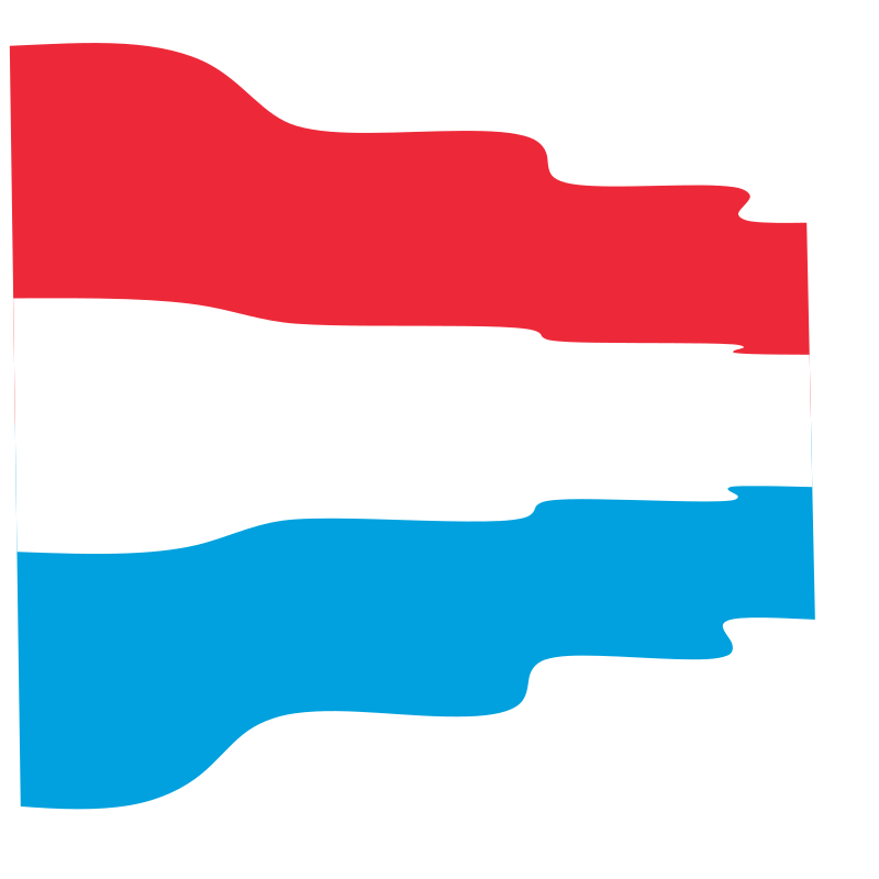 Waving flag of Luxembourg