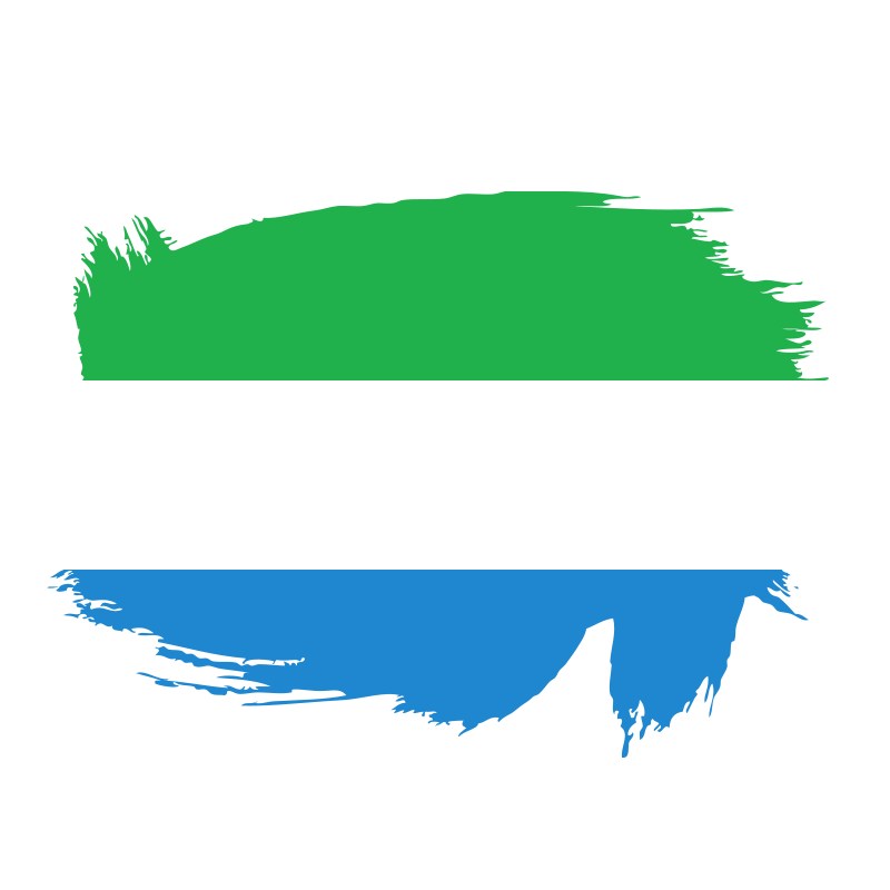Sierra Leone flag brush stroke