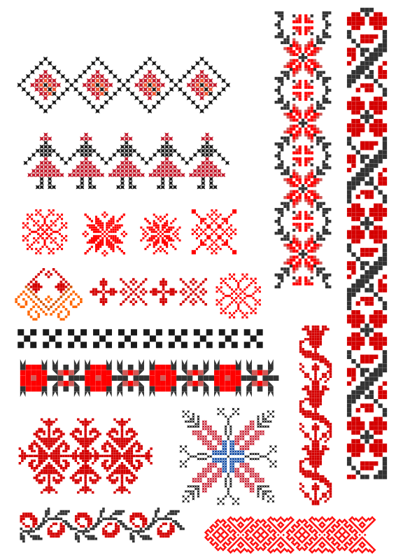 Romanian handmade stitch patterns
