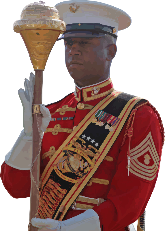 U.S. Marine Corps Drum and Bugle Corps Drum Major
