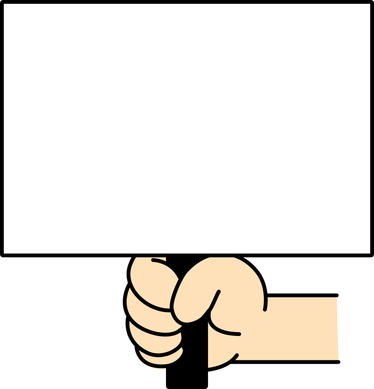 Hand with Sign