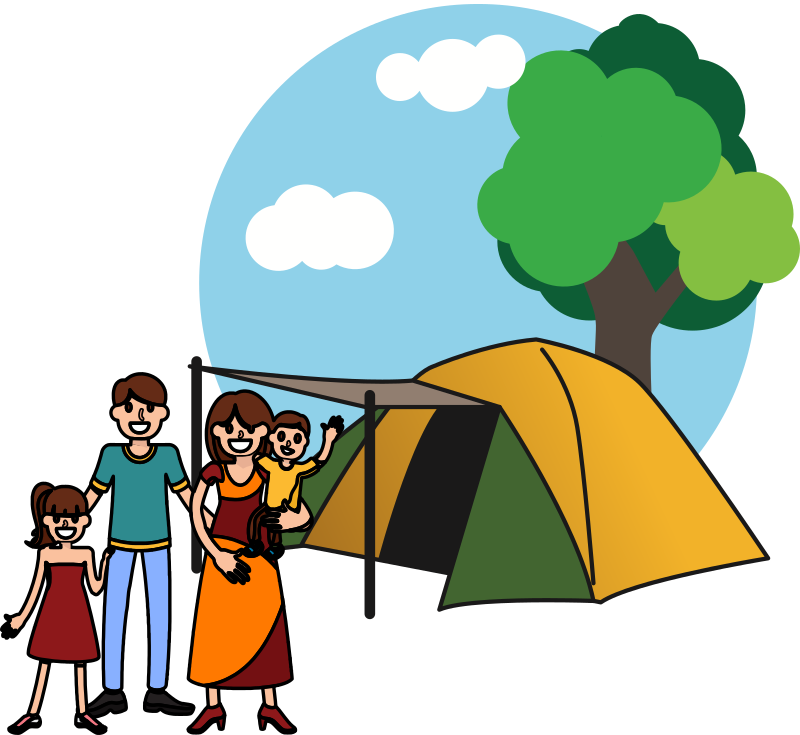 Family and Tent