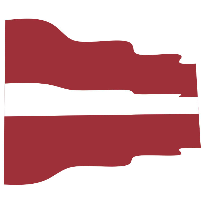 Waving flag of Latvia