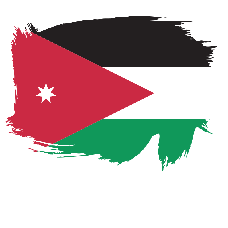 Brush stoke flag of the Kingdom of Jordan