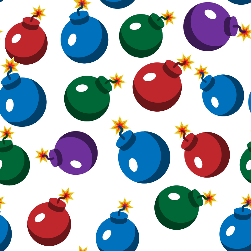 Christmas ornaments seamless pattern