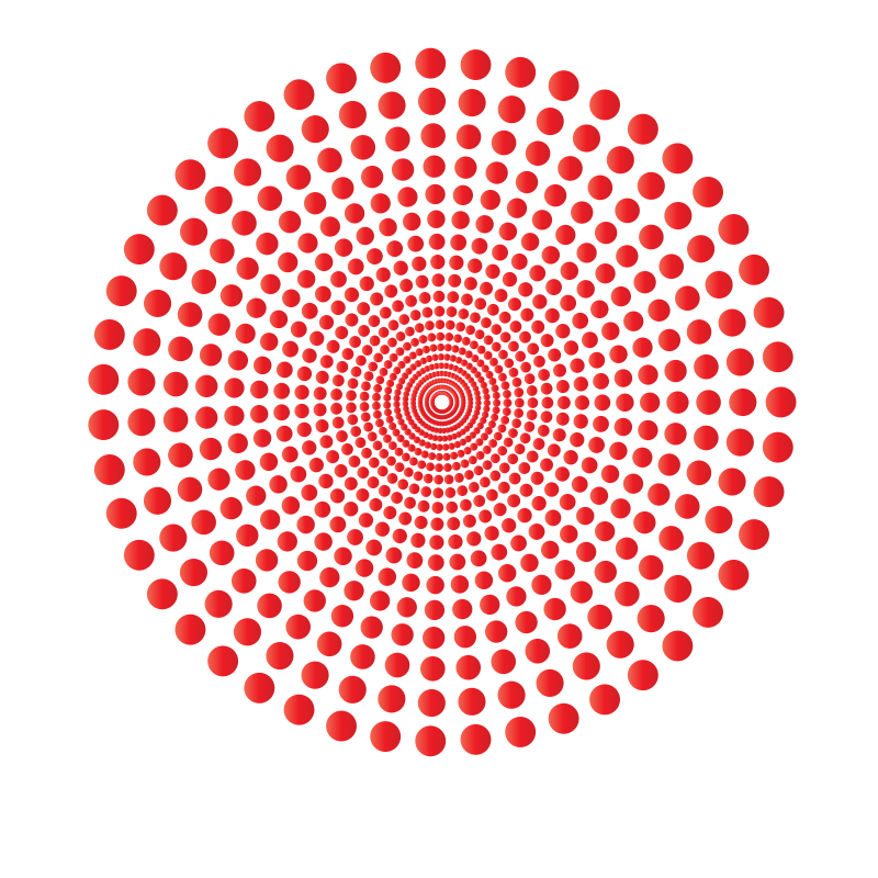 Halftone dots in circle