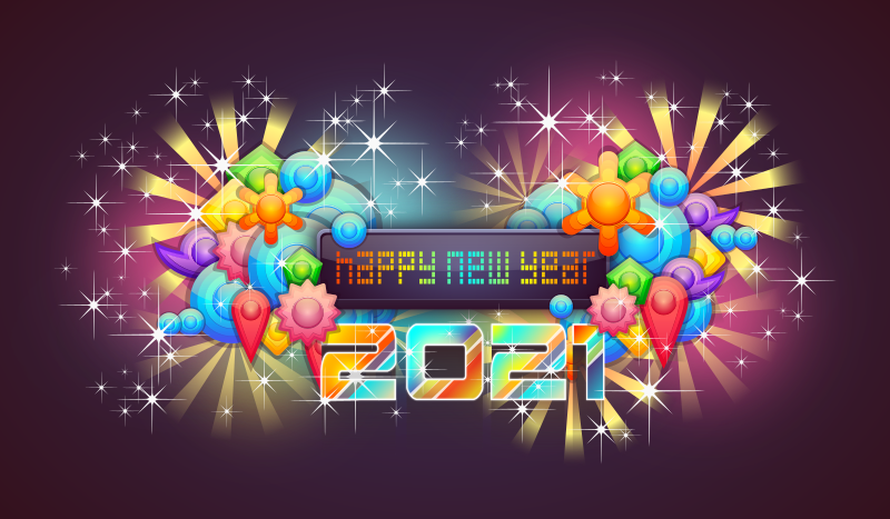 Happy New Year 2021 with Badge