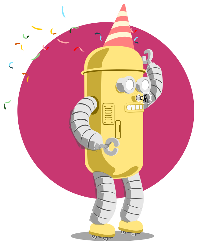 birthday robot animated