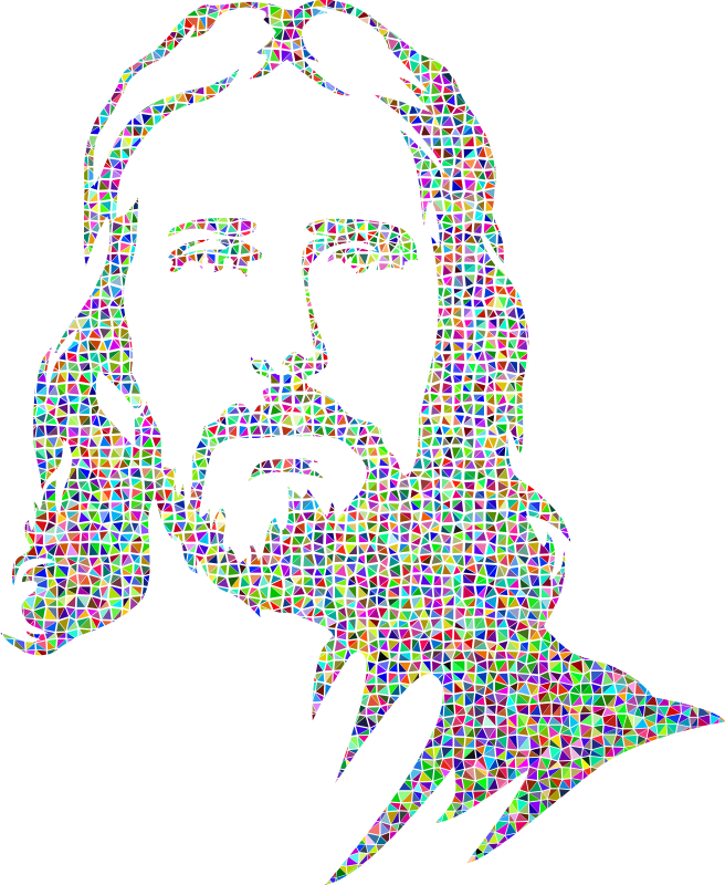Jesus Low Poly Portrait