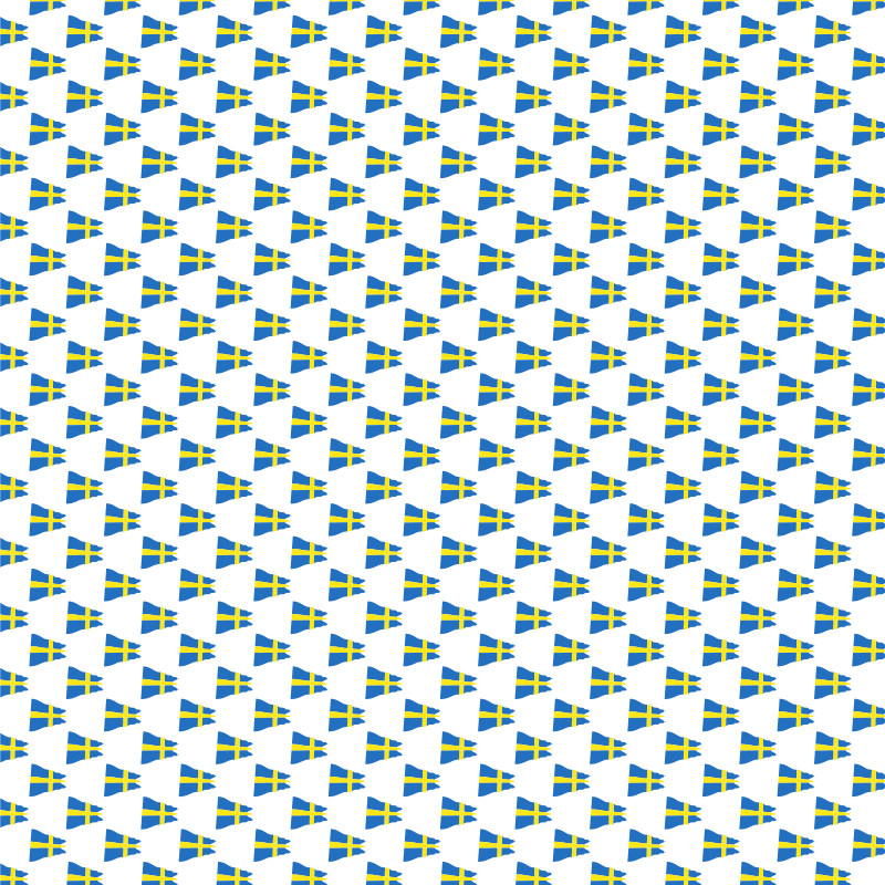 Background with Swedish flags