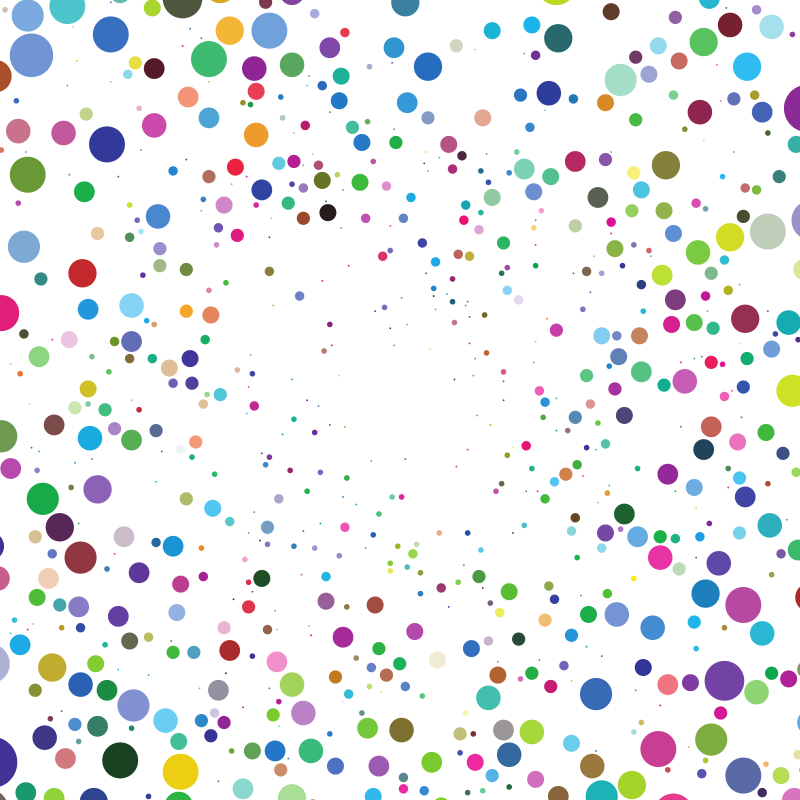 Coloured scattered dots