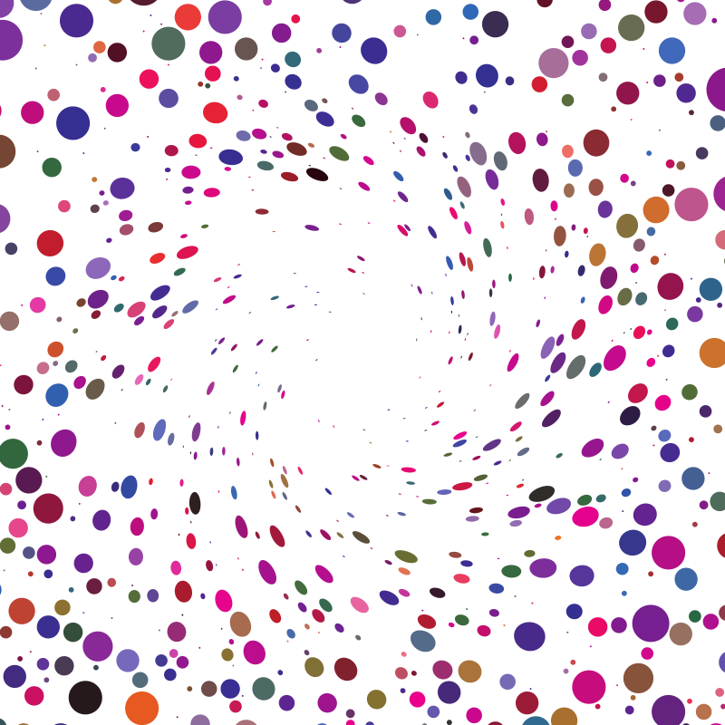 Random coloured dots vector background