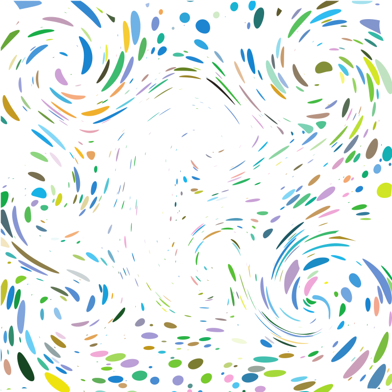 Colourful dots swirl effect