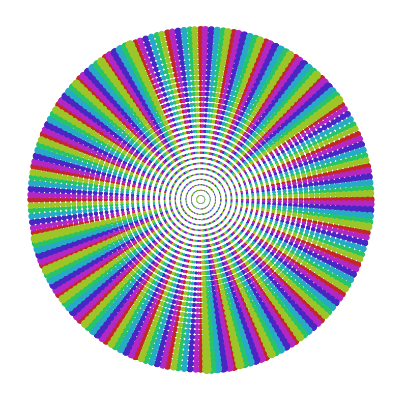 Dotted Rainbow Burst