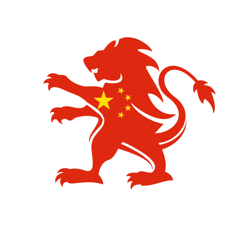 Chinese lion flag symbol