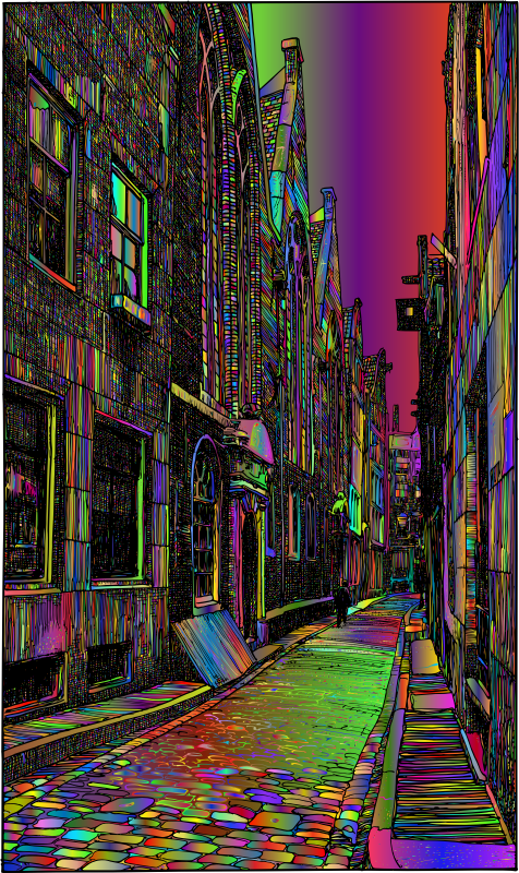 Narrow Alleyway Surreal