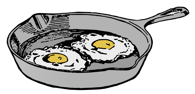 Fry Pan with Eggs