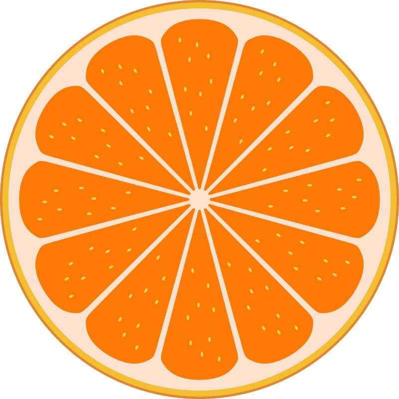 Orange slice by Rones