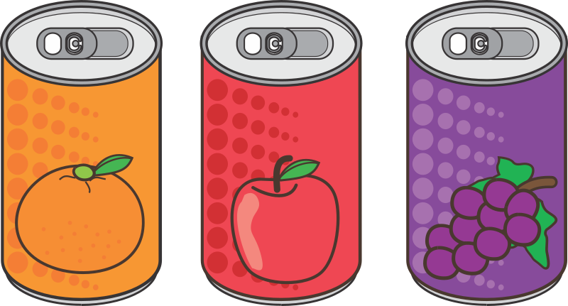 Canned fruit drinks no names
