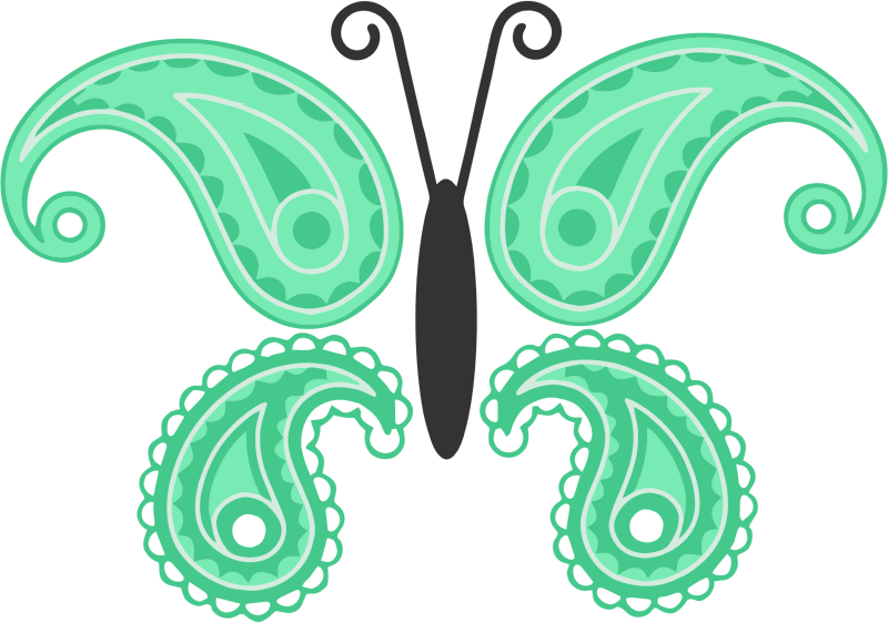 Decorative Butterfly By Linnaea Mallette Isolated Vectorized