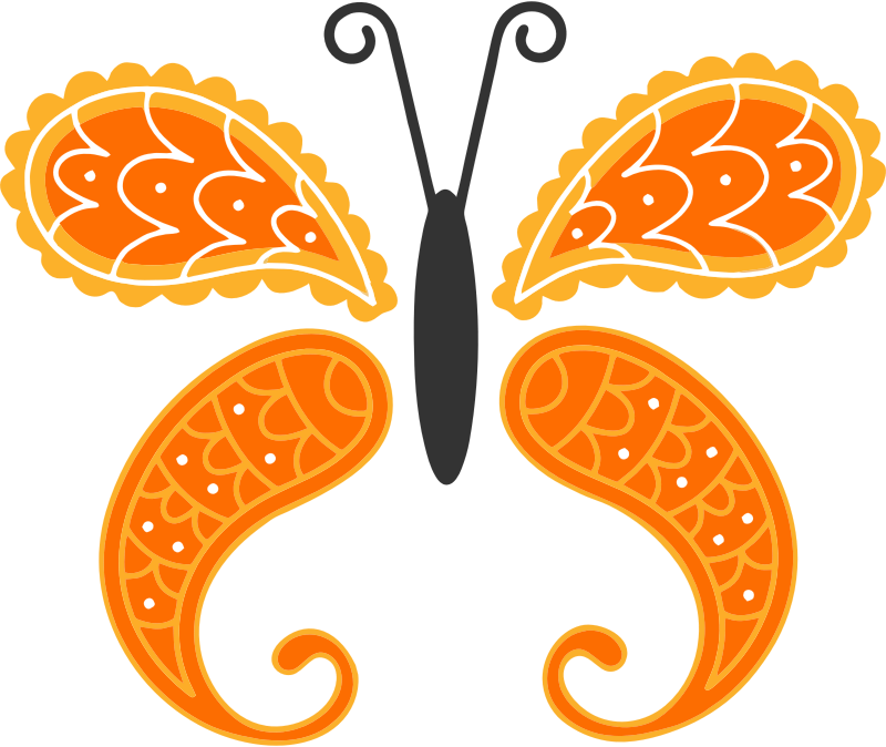 Decorative Butterfly By Linnaea Mallette Isolated Vectorized 2