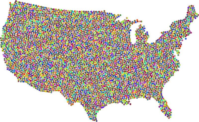 United States Dots Polyprismatic
