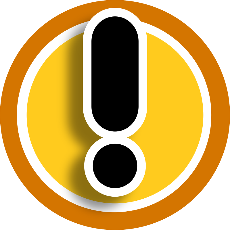 HMI icon warning