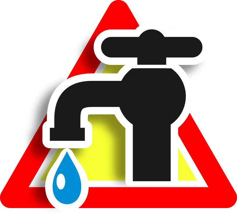 Warning leak icon