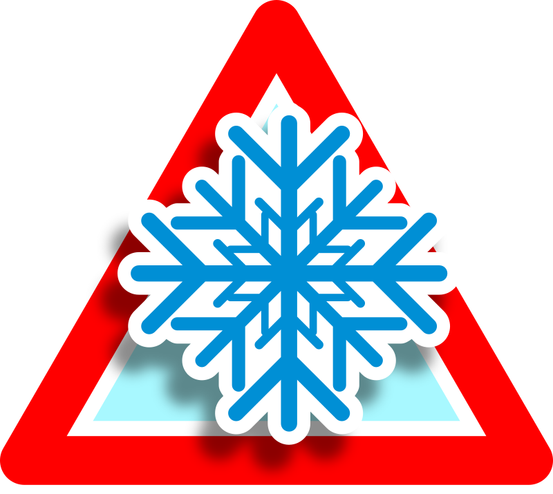 Warning freeze icon