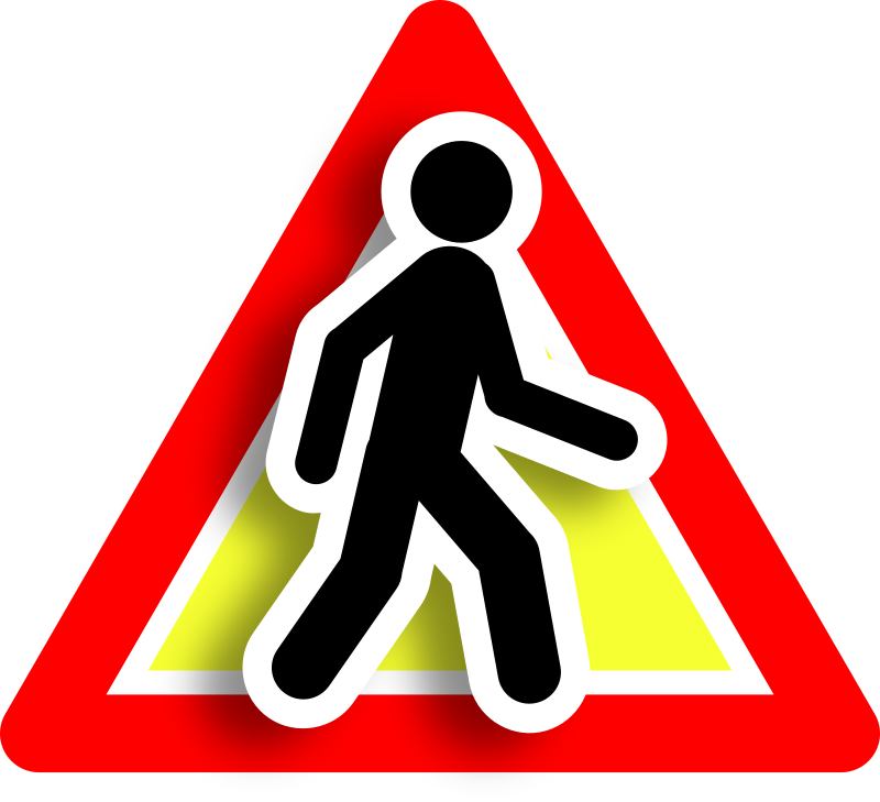 Warning intruder icon