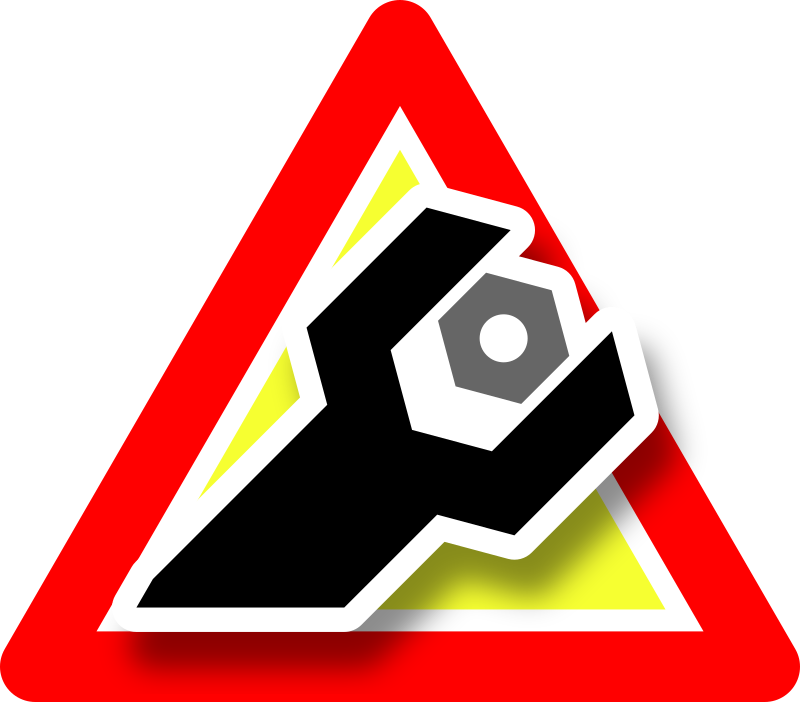 Warning maintenance icon