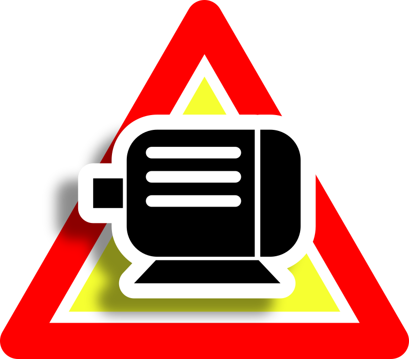 Warning motor icon