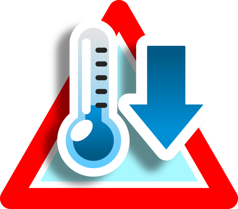 Warning low temperature icon