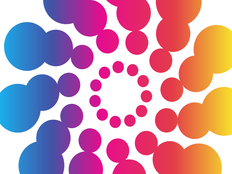Retro bubbles gradient colour