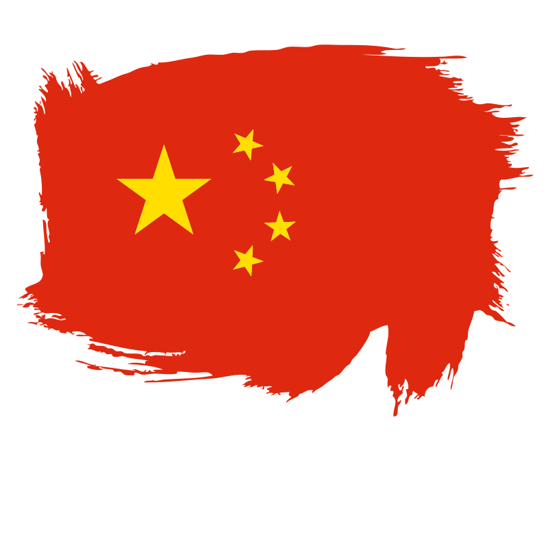 China flag paintbrush stroke