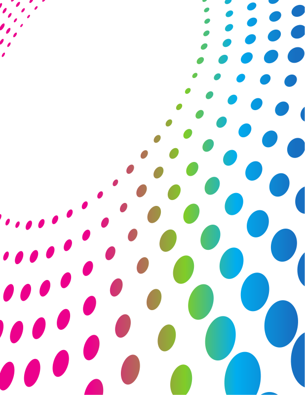 Coloured dotted pattern background