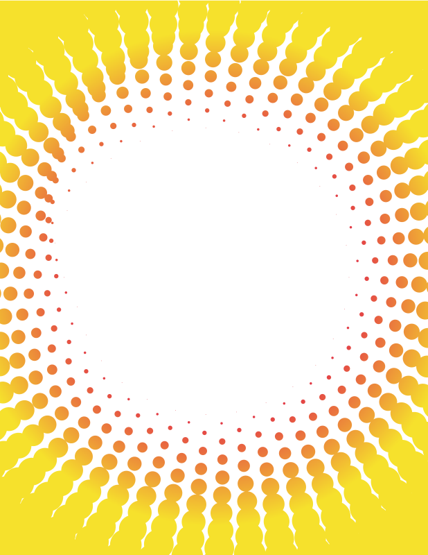 Halftone pattern in yellow colour