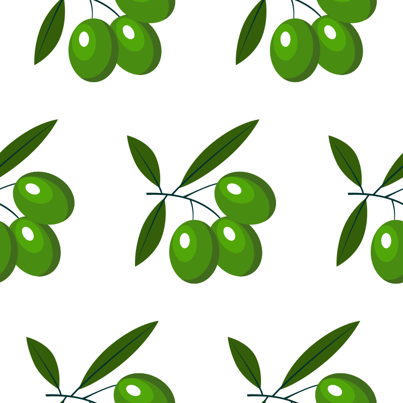 Olive branch pattern clip art