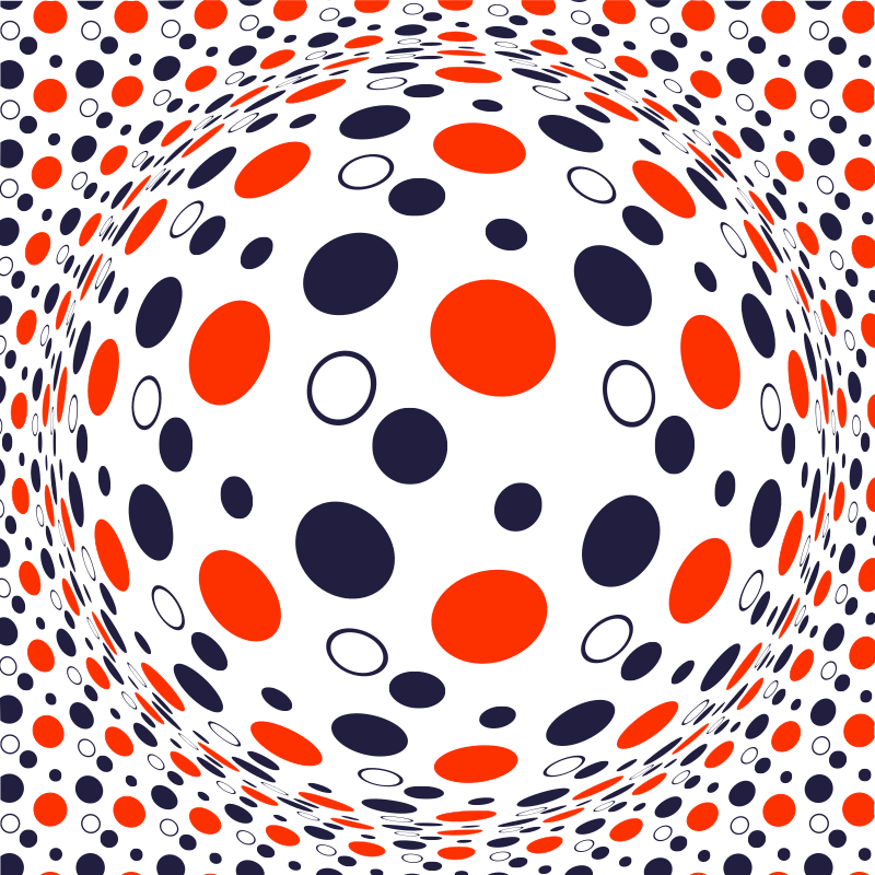 Spherical shape dotted pattern