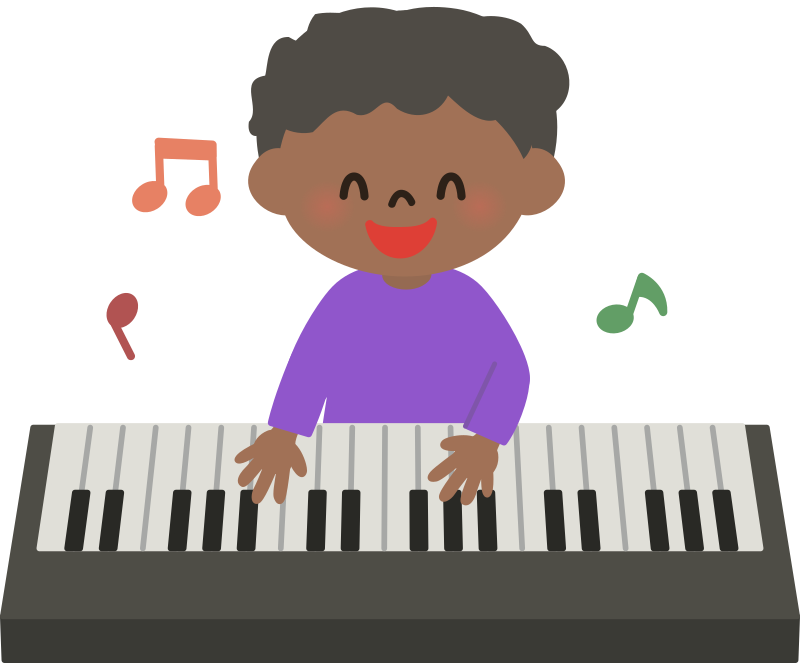 African Kid Playing Piano