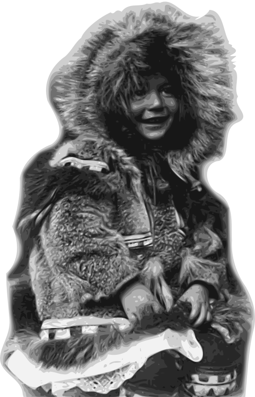 Inuit Child in Fur