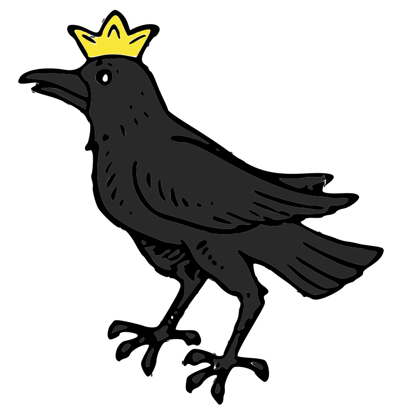 Raven with Crown