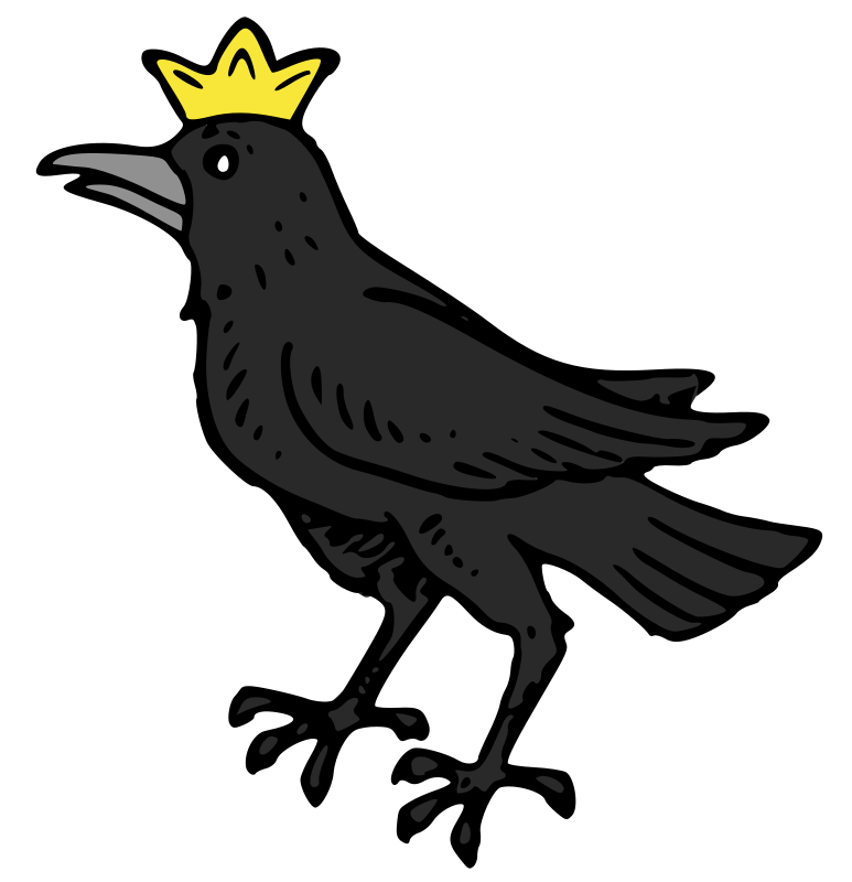Raven with Crown -better fill