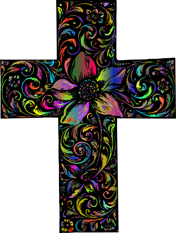 Ornamental Floral Cross Polyprismatic