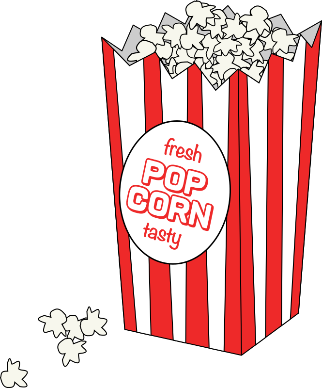 Movie Popcorn with Logo