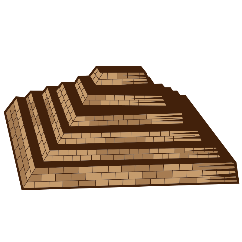 Ancient pyramid 3d graphics