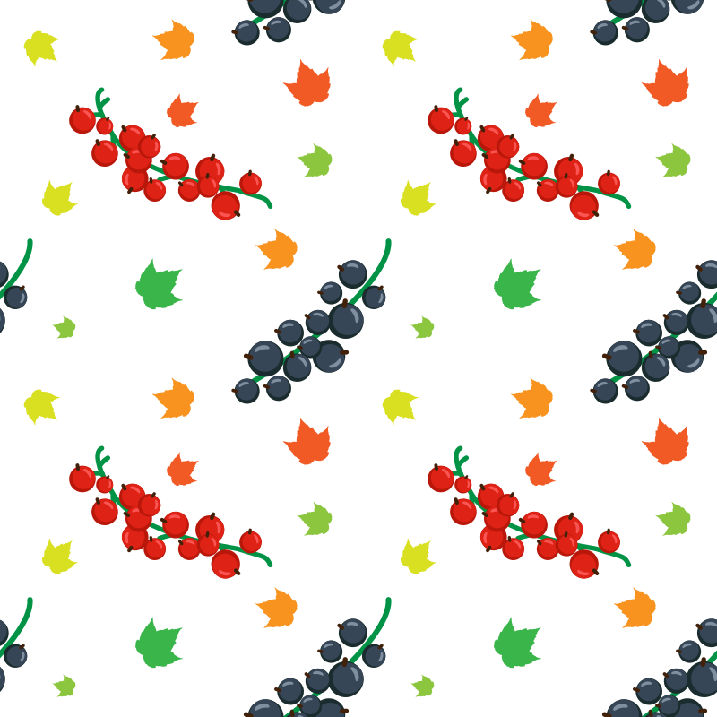 Berry floral pattern