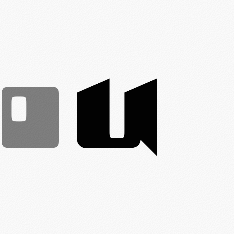 Stylised Letter 'o' and 'u'
