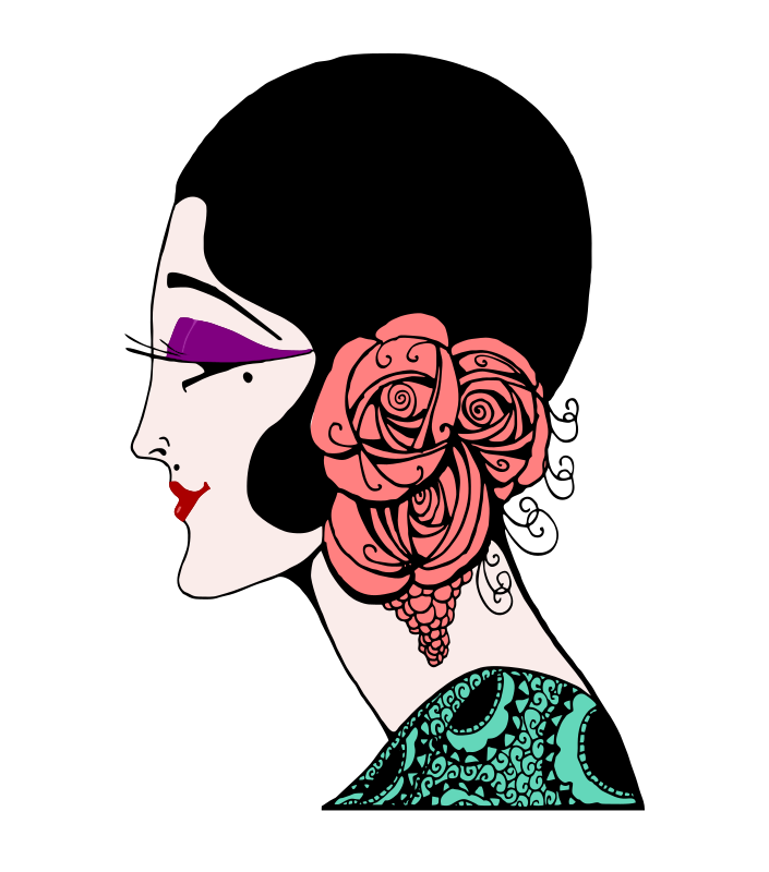 Roaring Twenties Lady - Colour