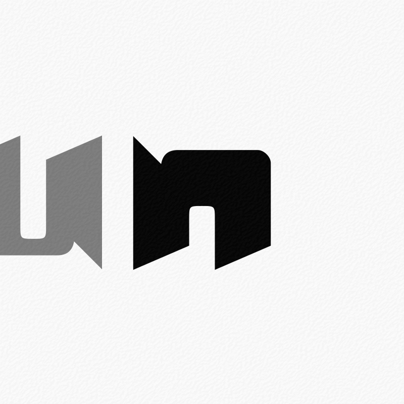Stylised Letter 'u' and 'n'